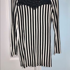 Voll Style Dresses - Black and White striped mini dress